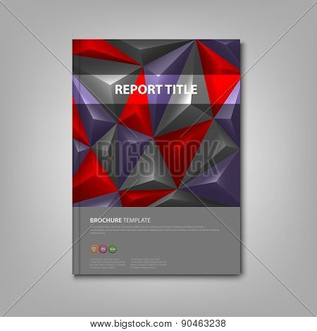 Brochures Book With Pyramid Background Template