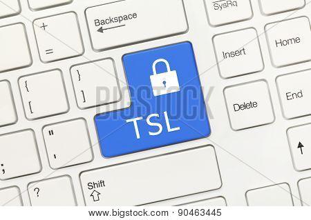 White Conceptual Keyboard - Tsl (blue Key)