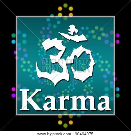 Karma Black Colorful Elements