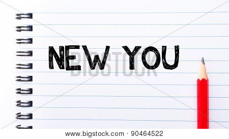 New Youtext Written On Notebook Page
