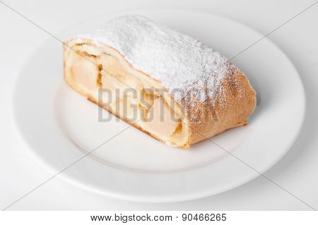 Swiss roll on the dish