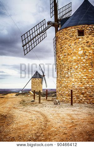 spanish windmills. Toledo province