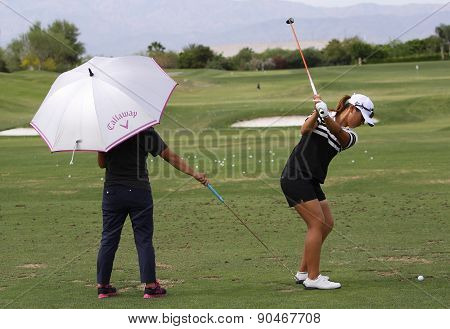 David Leadbetter And Lydia Ko At The Ana Inspiration Golf Tournament 2015