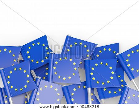 Flag Pin Of European Union