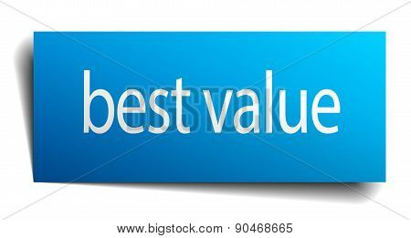 Best Value Blue Square Isolated Paper Sign On White