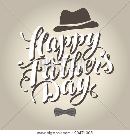 Happy Father's Day Vintage Vector Illustration