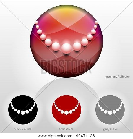 Pearl Chaplet Symbol Inside Circle Shape