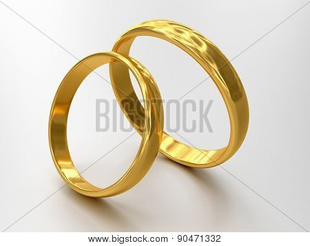 Illustration Of Two Wedding Rings