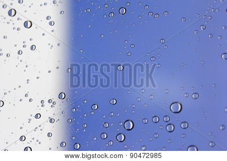 Water Drops on Glass 2