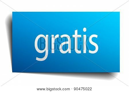 Gratis Blue Paper Sign On White Background