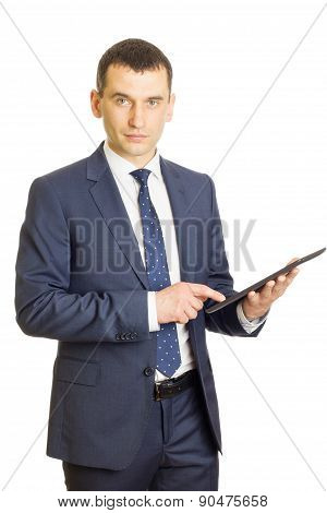 Handsome Businessman With Tablet Pc