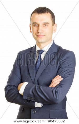 Businessman Folding One's Arms