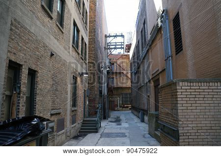 Alley Between Large Buildings
