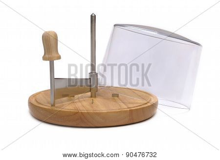 Mill for cutting cheese isolated on white background