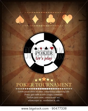 Poker tournament vector background. Design 5