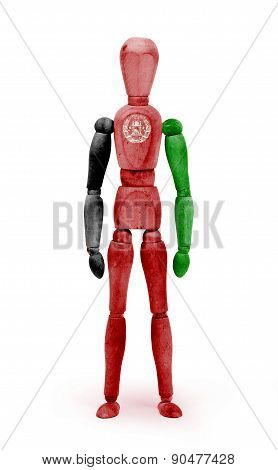 Wood Figure Mannequin With Flag Bodypaint - Afghanistan