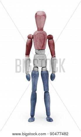 Wood Figure Mannequin With Flag Bodypaint - Netherlands