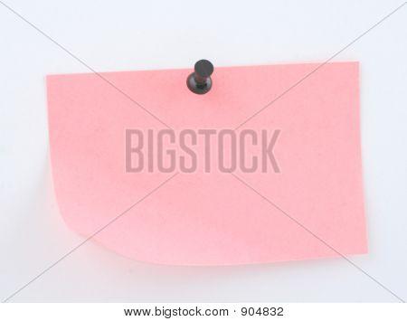 Pink Paper Sheet Pinned