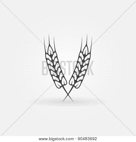 Ears of wheat logo or icon