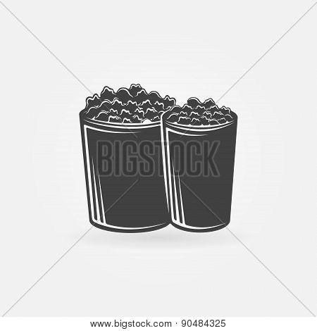 Popcorn vector icon or symbol