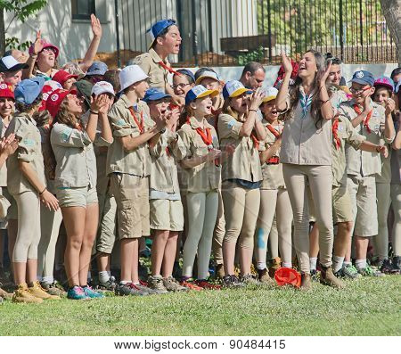 Israel Scouts In A Yearly Graduation Ceremony