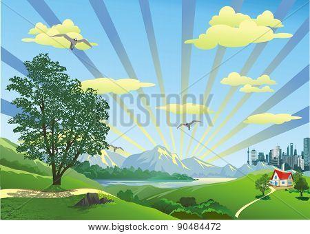 Landscape - Cottage On The Hill [