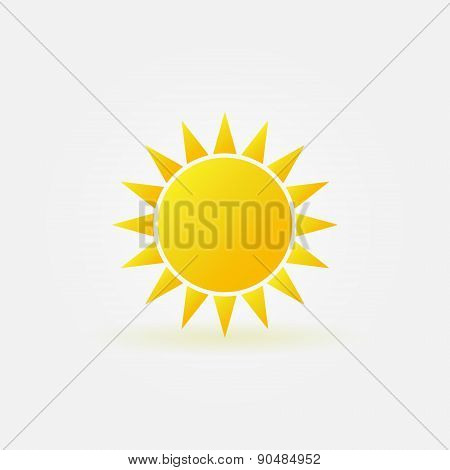 Yellow sun logo or icon