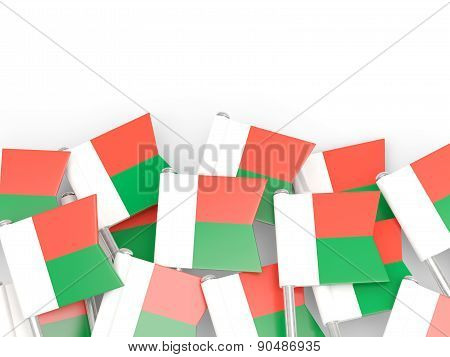Flag Pin Of Madagascar