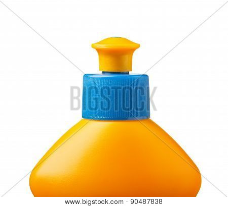 Dishwashing Yellow Bottle Top