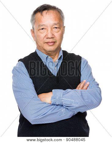 Asian old man portrait