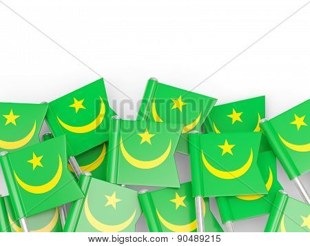 Flag Pin Of Mauritania