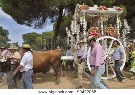 Pilgrims In The Way To El Rocio