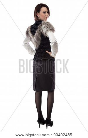 Image of woman in fur jacket