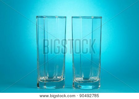 Two empty glasses