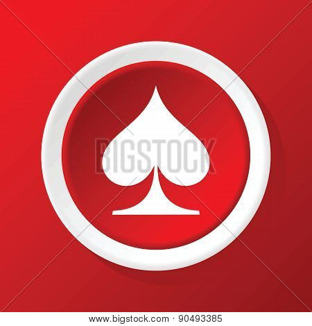 Spades icon on red