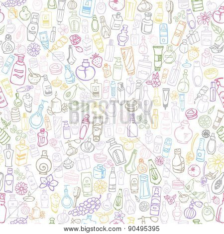 Cosmetic Products Seamless Background