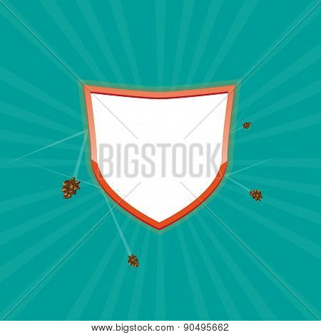 Protected Shield. Vector illustration