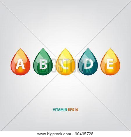 Drop of vitamins  vector illustration