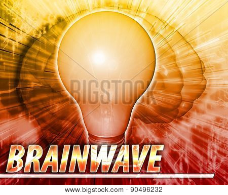 Abstract background digital collage concept illustration brainwave creative ideas