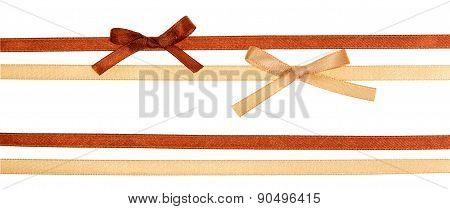 Shiny satin ribbons