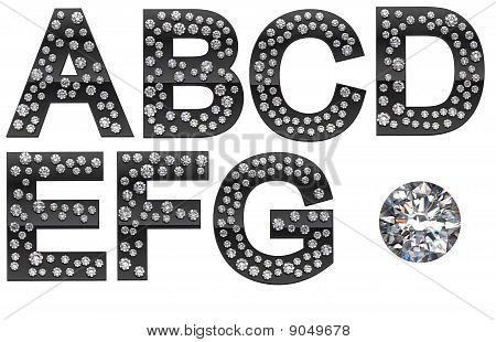 Diamond A-g Letters With Large Gem