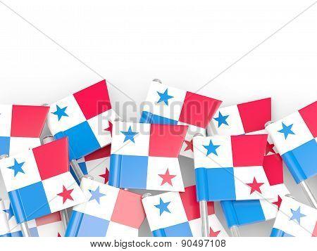Flag Pin Of Panama