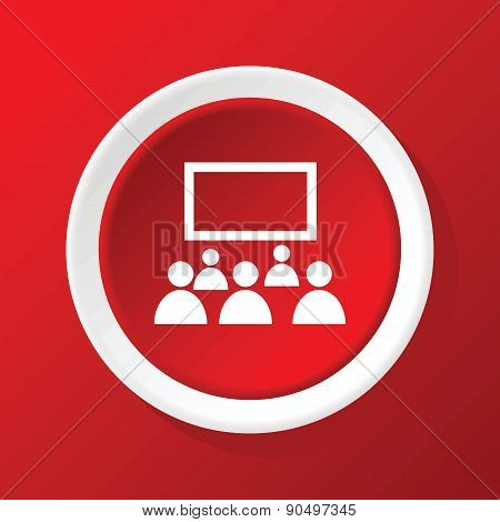 Audience icon on red