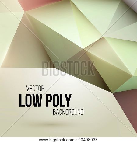 Low poly triangular background. Design element. Vector illustration