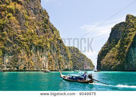 Emerald lagoon at Phi-Phi Island Thailand