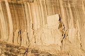 foto of semi-arid  - Abstract patterns created by desert varnish and erosion on the walls of a canyon in the Colorado National Monument - JPG