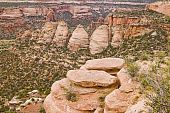 picture of semi-arid  - A view of Colorado National Monument from Rim Rock Drive - JPG