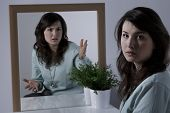 picture of personality  - Young beauty woman with borderline personality disorder - JPG
