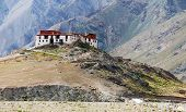 image of jammu kashmir  - Rangdum or Ringdom buddhist monastery in Suru valley  - JPG