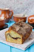stock photo of cinnamon  - Cake with cinnamon and cinnamon crunchy crust - JPG